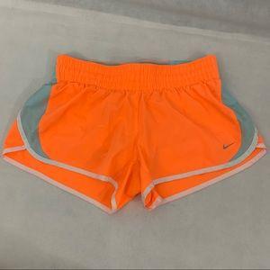 Nike Dri Fit Running Shorts Size M Orange